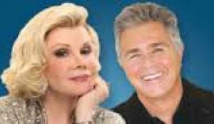Joan Rivers and Steve Tyrell at the Westbury Music Fair