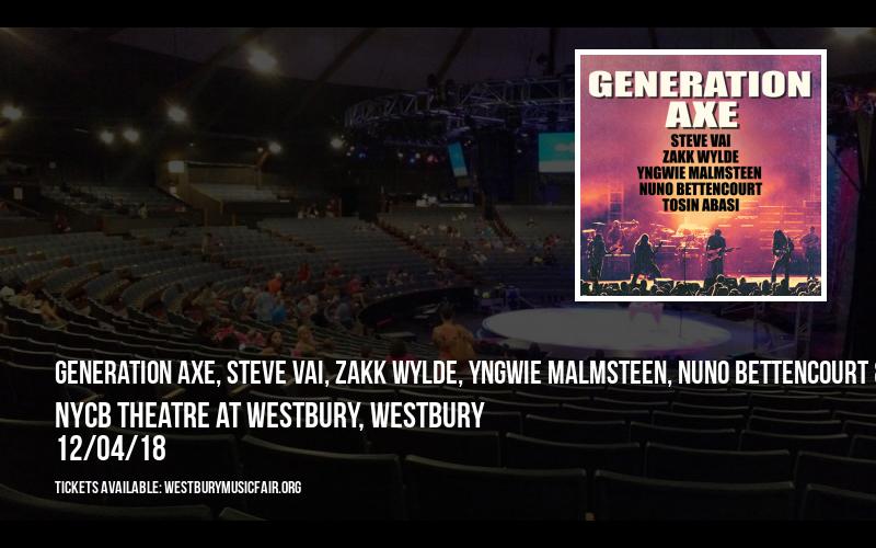 Generation Axe, Steve Vai, Zakk Wylde, Yngwie Malmsteen, Nuno Bettencourt & Tosin Abasi at NYCB Theatre at Westbury