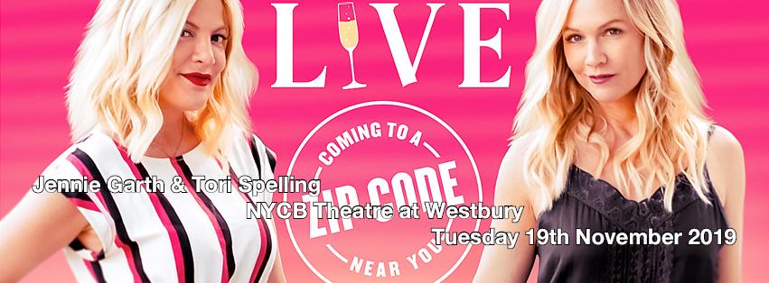 Jennie Garth & Tori Spelling at NYCB Theatre at Westbury
